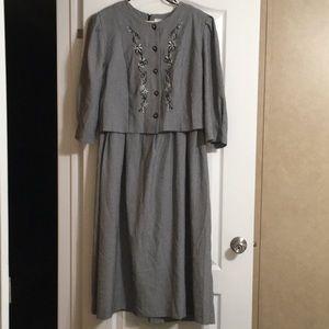 """""""Lady Dorby"""" Black & White Women's Size 20W Dress"""